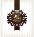 Coffeehouse menu design Royalty Free Stock Image