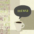 Coffeehouse menu template Stock Photography