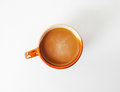 Coffees cup on white background isolated Royalty Free Stock Photo