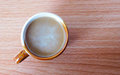 Coffees cup on wood background Royalty Free Stock Photo