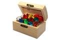 Coffer of gemstones Royalty Free Stock Photo