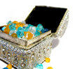 Coffer with jewels Stock Photo