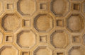 Coffered ceiling located in palazzo del te mantuan Stock Photos