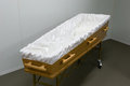 Coffin in morgue Stock Image