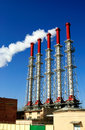 Cogeneration plant Royalty Free Stock Photo