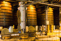 Cognac distillery inside a in the south of france Royalty Free Stock Images