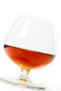 Cognac glass of close up Royalty Free Stock Photos