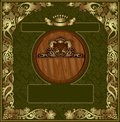 Cognac luxury background banner gold oak advertisi there is a wine with barrel and grapes pattern Royalty Free Stock Photos