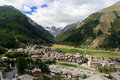 Cogne overview, Italy Royalty Free Stock Image