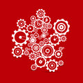 Cogs - gears on red background Royalty Free Stock Photo