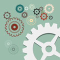 Cogs - Gears Retro Illustration Royalty Free Stock Photo