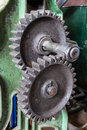 Cogs with a green background Royalty Free Stock Images