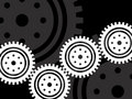 Cogs illustration Royalty Free Stock Photography
