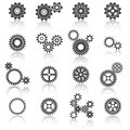Cogs Wheels and Gears Icons Set Royalty Free Stock Photo