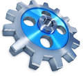 Cogwheel high resolution rendering of a Stock Photography