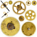 Cogwheels gears on white background Royalty Free Stock Photography