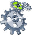 Cogwheels high resolution rendering of gears Stock Image