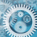 Cogwheels and lines Stock Photo