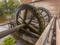 Cogwheels at a watermill working cogwheel driven singraven castle in dinkelland netherlands Stock Photography