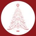 Coil Christmas Tree Royalty Free Stock Photo