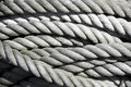 Coil of old rope Royalty Free Stock Photo