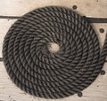 Coil of rope of sailing ship Royalty Free Stock Photo