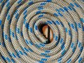 Coil of rope texture photo Royalty Free Stock Photo