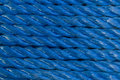 Coiled Blue Nylon Rope background Royalty Free Stock Images