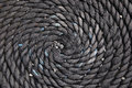 Coiled rope background of a used as a doormat Royalty Free Stock Images