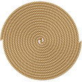 Coiled rope in circle Royalty Free Stock Photo