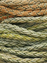 Coiled rope detail Royalty Free Stock Photo