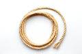 Coiled rope on a white background close up Royalty Free Stock Photo