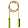 Coiled skipping rope jump rope ring on white Stock Photography