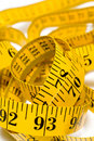 Coiled tape measure Royalty Free Stock Photo