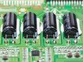 Coils four in the inverter led tv Royalty Free Stock Photography