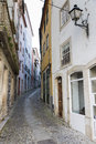 Coimbra a typical narrow alley in portugal Royalty Free Stock Photos
