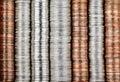 Coin background Stock Photos