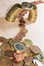 Coin bridge Royalty Free Stock Photo