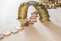 Coin bridge Royalty Free Stock Photo