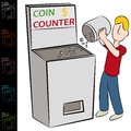 Coin Counting Machine Stock Photography