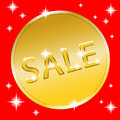 Coin gold button Royalty Free Stock Photo