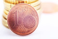 Coin one euro cent Royalty Free Stock Photo