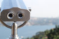 Coin operated binocular with Istanbul Royalty Free Stock Photo