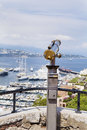 Coin operated binocular at the viewpoint in Monaco,France Royalty Free Stock Photo