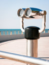 Coin operated binoculars Royalty Free Stock Photography