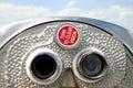 Coin operated binoculars at Fort Desoto Florida Royalty Free Stock Photo