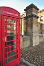 Coin telephone box, Oxford Royalty Free Stock Photography