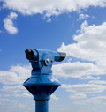 Coin telescope Stock Photography