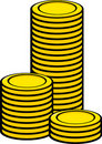 Coin towers vector illustration Royalty Free Stock Photos