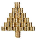Coin tree Royalty Free Stock Photos